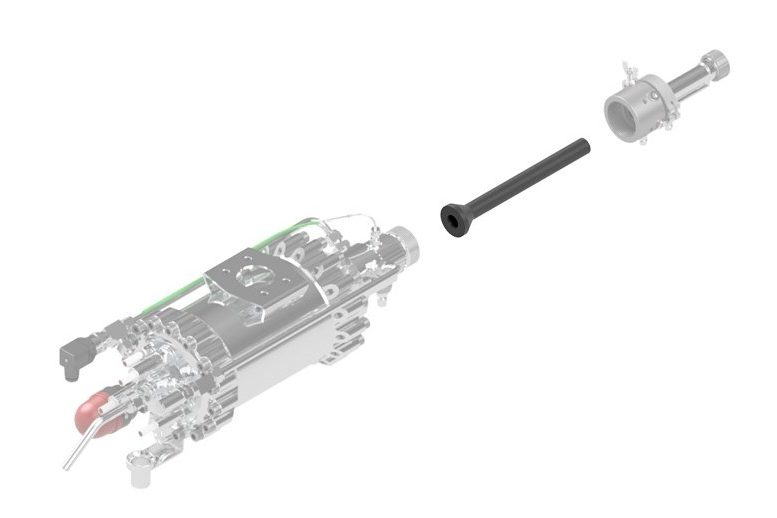 Impact Innovations Injector - OUT1_002 for cold spray systems