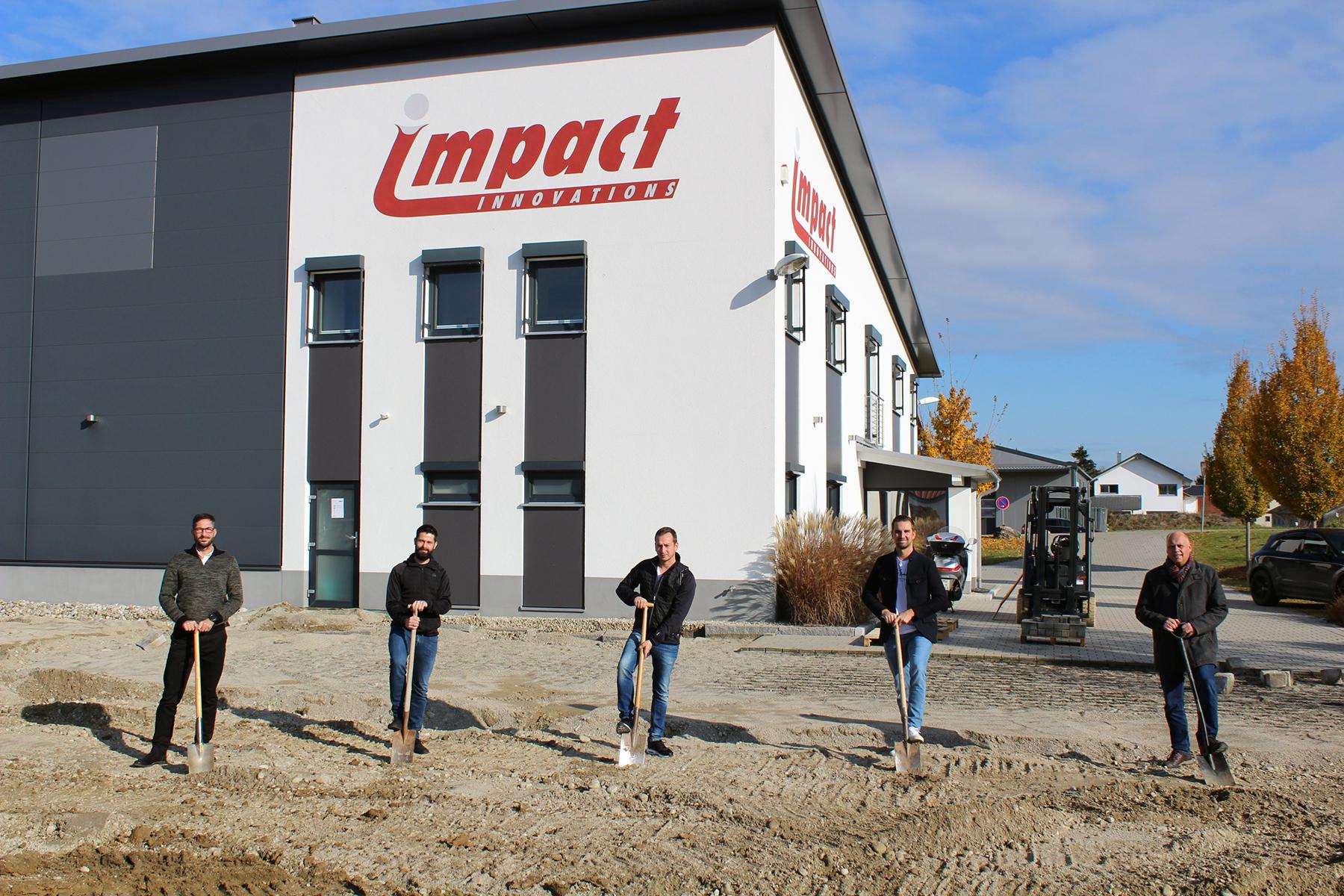 Impact Innovations Spatenstich Neubau