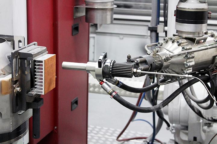 Setup of cold spraying hybrid heatsinks